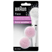 Сменная щеточка для чувствительной кожи Braun 80s Face 2шт