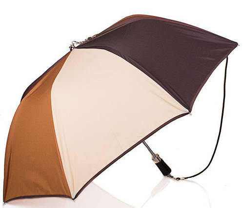 Великолепный женский зонт, полуавтомат, Антиветер GUY de JEAN (Ги де ЖАН) FRH185204-1 беж/коричневый