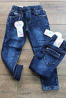 Детские джинсы на флисе Резинка Размер 4 - 12 лет