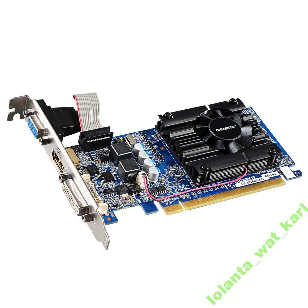 Видеокарта GF GT210 1Gb DDR3 PCIe Gigabyte GV-N210