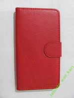 Чехол-книга красный PU-кожа для Xiaomi Redmi Note2