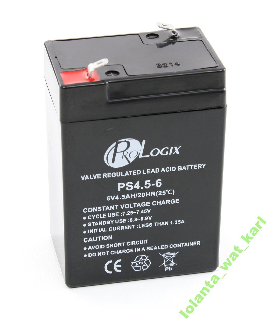 Аккумуляторная батарея ProLogix 6V 4.5AH