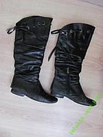 Сапоги женские высокие кожаные