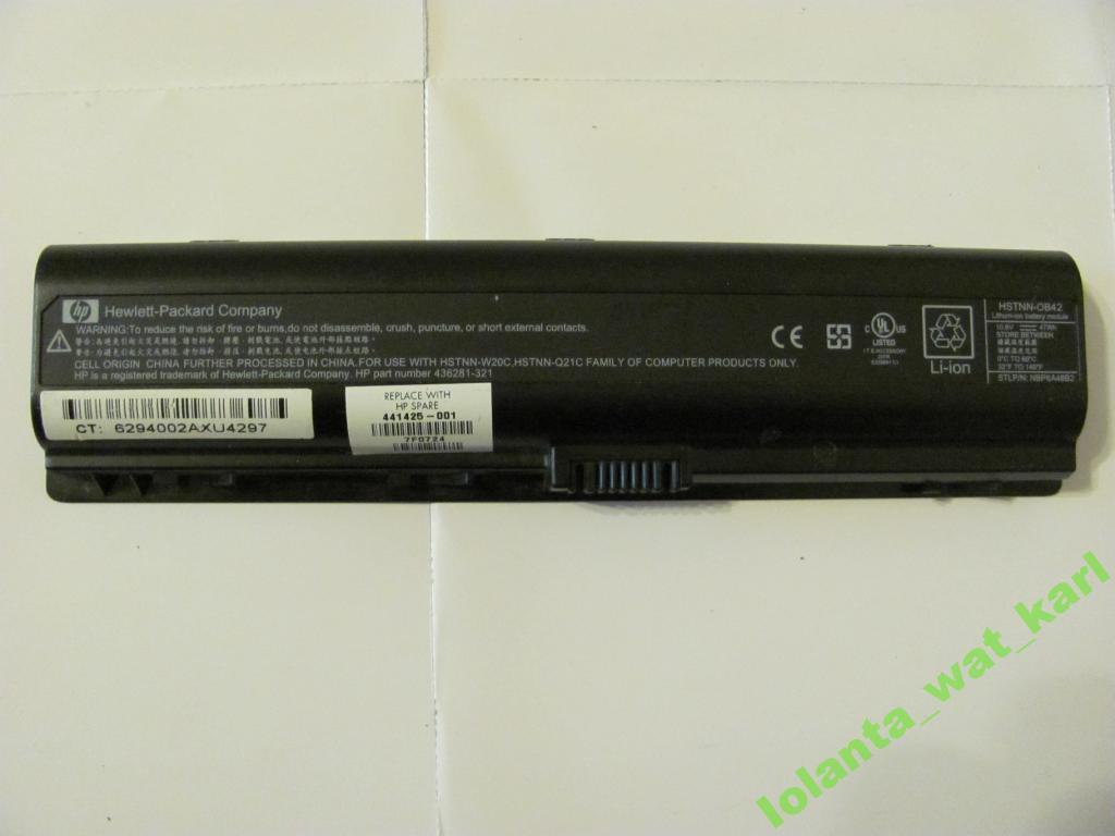 Аккумулятор HP Compaq HSTNN-OB42