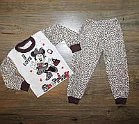 "Детская пижама ""Минни Маус"", на байке , рост от 80 до 122 см"