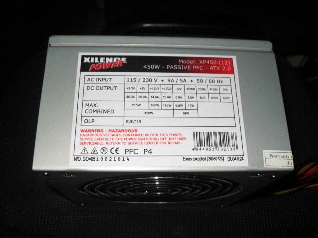 Блок питания Xilence XP450.(12) 450 W Из Германии