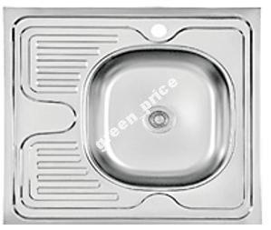 Мойка кухонная накладная нерж. 60х60