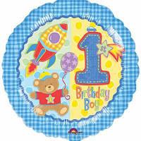 Шар с гелием на первый день рождения мальчику