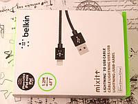 Кабель Belkin для зарядки iPhone 5, 6. Зарядный кабель Белкин для Айфон 5/6