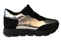 """Ботинки осенние женские """"Gold"""" высокая танкетка"""