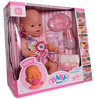 Кукла-пупс Baby Born (копия), девочка, платье в цветочек, полный кт. BB 8009-438