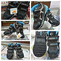 Демисезонные кроссовки Geox 31р (J4427F черные с синим)