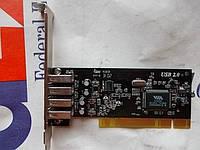 Контроллер PCI USB VIA 6202 4 Port USB2.0 012946