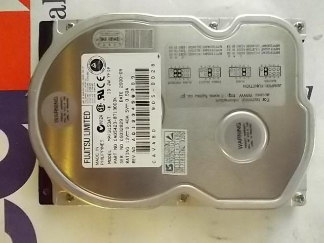 HDD IDE 3,5 Fujitsu MPF3153AT 05032829 15,3Gb