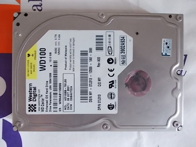 HDD IDE 3,5 WD WD100BB WMAAS1169699 10.0Gb