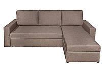 Кровать диван 3-х месный угловой коричневая ткань164/92х226 см,