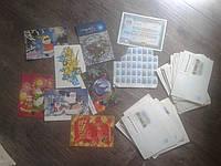 Конверты, открытки, марки