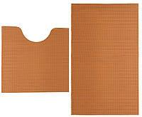 Набор ковриков в ванную комнату оранжевые 48х80/48х48 см
