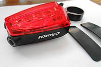 Велосипедный фонарь задний с лазерными указателеми