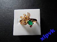 Кольцо Изумруд 6х3мм,Рубин-17.5р-375 пр-ИНДИЯ
