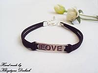Браслет love любовь разные цвета шнура!
