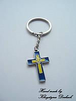 Брелок крест трезубец тризуб герб Украины