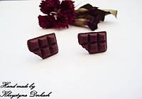 Cерьги Шоколадка Hand made