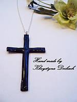 Подвеска кулон Хрест Крест крестик с цепочкой