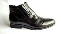 Мужские кожаные зимние ботинки BoMar Crocodile