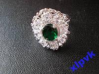 Кольцо Шикарный Изумруд 10х8мм-18.2 р-925-ИНДИЯ