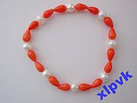 Браслет Нат.16 Розовых Кораллов,8 Жемчужин-ИНДИЯ
