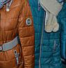 Куртка женская зима с шарфом, фото 2