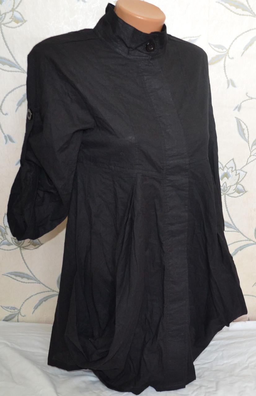 Стильная хлопковая рубашка - туника, размер  44 /46