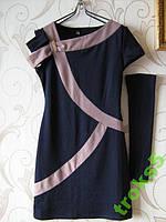 Модное трикотажное платье, рукава, размер М