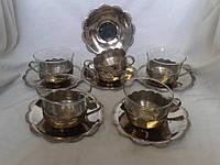 Набор Чайные пары  стекло никелир