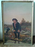 Картина Чехов на рыбалке холст масло