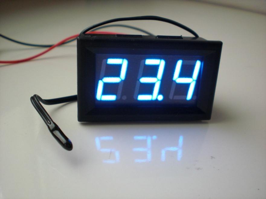Цифровой термометр DC 5 - 12 вольт, LED авто.