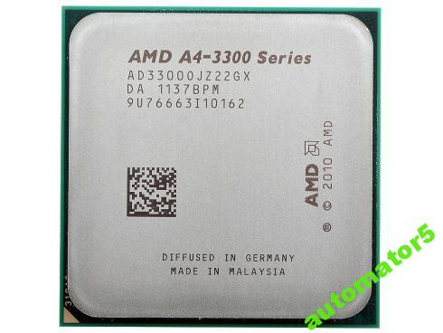 Новый!FM1 AMD A4-3300(2.5Gx2)AD3300OJZ22GX +тпаста