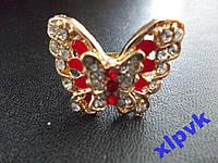 Кольцо Бабочка Махаон Красная,18кGP,ИТАЛИЯ.НОВИНКА
