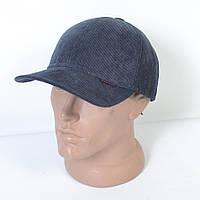 Стильная утепленная вельветовая кепка на флисе с ушками - 29-452