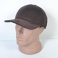 Стильная утепленная вельветовая кепка на флисе с ушками - 29-453