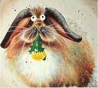 """Алмазная вышивка Вкусный одуванчик KLN 30 х 30 см (арт. FS219) DIY серия """"Котомир"""""""