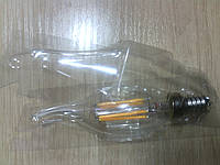 Филаментная светодиодная лампа Е14, свеча 4вт, 450lm