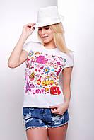 Женские летние футболки большого размера