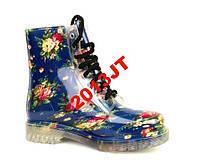 Резиновые сапоги ботинки  цветы