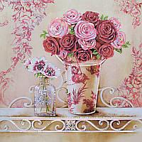 Картина бисером в рамке Идейка Английские розы (ВБ1067) 30 x 30 см