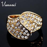 Кольцо  Viennois камни Сваровски размер 7
