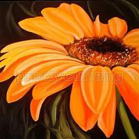 Цветок Масло. печать на полотне 70Х70см