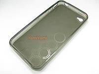 Крышка силикон  на iPhone 4G серая