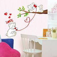 Медведи и дерево наклейки для детской комнаты